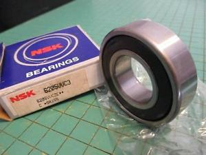 high temperature NSK 6205-2RS Ball Bearing 25mm ID 52mm OD 15mm Thick NOS