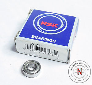 high temperature NSK 695ZZ DEEP GROOVE BALL BEARING, 5mm x 13mm x 4mm, FIT C0, DBL SEAL
