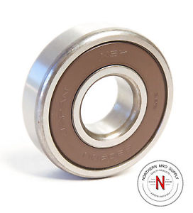high temperature NSK 6304DU DEEP GROOVE BALL BEARING,  20mm x 52mm x 15mm, FIT C0, DBL SEAL