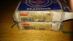 high temperature TWO NSK 6219ZZC3E DEEP GROOVE BALL BEARING, 95mm X 170mm X 32mm