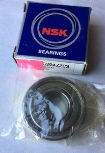 high temperature NSK 6204ZZC3 Deep Groove Ball Bearing Single Row, Double Shielded