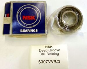 high temperature NSK 6307VV C3 Deep Groove Ball Bearing