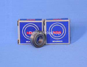 high temperature NSK 6201ZZC3 Ball Bearing (New, Lot of 2)