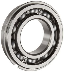 high temperature NSK 6206NR Deep Groove Ball Bearing, Single Row, Open, Snap Ring, Pressed Steel