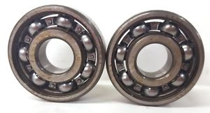 high temperature NSK DEEP GROOVE BALL BEARING, 6302, 15 X 42 X 13 MM, SINGLE ROW, OPEN, LOT OF 2