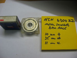 high temperature NSK 6300 ZZ metal shielded ball bearing. 10mm id x 35mm od x 11 mm wide.