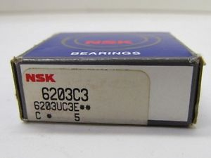 high temperature NSK 6203C3 6203UC3E Ball Bearing NIB
