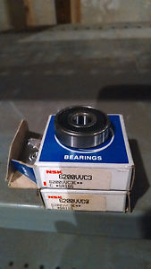 high temperature NSK 6200VVC3 Deep Groove Single Roll Ball Bearing