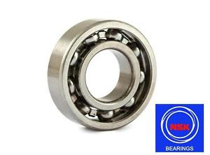 high temperature 6207 35x72x17mm Open Unshielded NSK Radial Deep Groove Ball Bearing