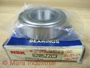 high temperature NSK 6205-ZZ-C3 Shielded Ball Bearing 6205ZZC3