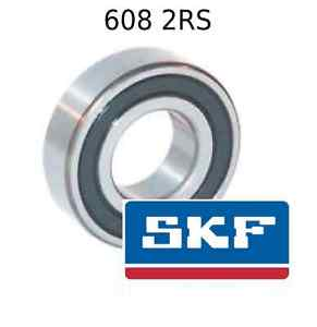 high temperature 608 2RS Genuine SKF Bearings 8x22x7 (mm) Sealed Metric Ball Bearing 608-2RSH