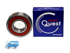 high temperature 6201 2rs Nachi Eqv to NSK  Rubber Sealed Metric Ball Bearing, Made in Japan.