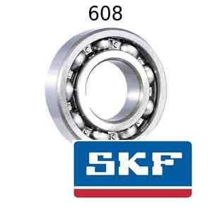 high temperature 608 Genuine SKF Bearings 8x22x7 (mm) Open Metric Ball Bearing Opened