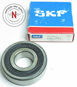 high temperature SKF 6305-2RS1 DEEP GROOVE BALL BEARING, DOUBLE SEAL, 25mm x 62mm x 17mm