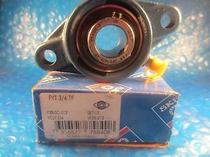 high temperature SKF FYT 3/4-TF, Insert=YAR 204-012 2F,Cast Iron 2-Bolt Ball Bearing Flange Unit