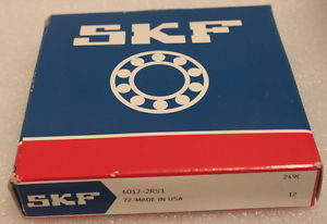 high temperature SKF 6017-2RS1 Rubber Sealed Deep Groove Ball Bearing 85x130x22mm