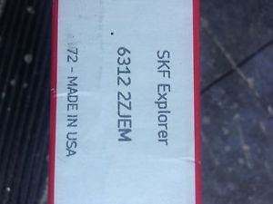 high temperature 1 NIB SKF 6312 2ZJEM RADIAL BALL BEARING