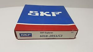 high temperature **** SKF 6018 2RS1/C3,Radial/Deep Groove Ball Bearing-Metric ,SKF 6018-2RS1/C