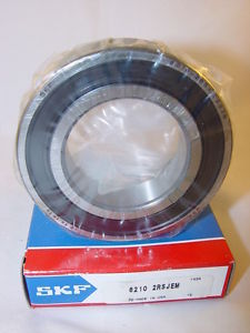 high temperature SKF 6210 2RSJEM Deep Groove Ball Bearing 50mm Bore 90mm OD 20mm Width 62102RSJEM