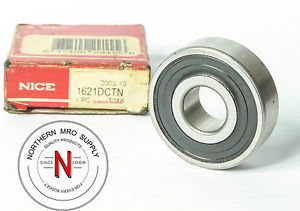 "high temperature NICE / SKF 1621DCTN DEEP GROOVE BALL BEARING, DOUBLE SEAL .500"" x 1.375""x .4350"""