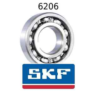 high temperature 6206 Genuine SKF Bearings 30x62x16 (mm) Open Metric Ball Bearing Opened