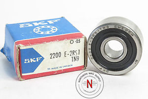 high temperature SKF 2200 E-2RS1 SELF-ALIGNING BALL BEARING, 10mm x 30mm x 14mm, FIT C0, DBL SEAL