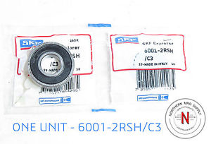 high temperature SKF 6001-2RSH/C3 DEEP GROOVE BALL BEARING, 12mm x 28mm x 8mm, FIT C3, DBL SEAL
