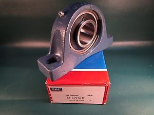 high temperature SKF SY 1.7/16 TF, SY1 7/16 TF, Cast Iron 2-Bolt Ball Bearing Pillow Block