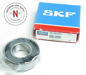 high temperature SKF 6003-2RSH DEEP GROOVE BALL BEARING, DOUBLE SEAL, 17mm x 35mm x 10mm