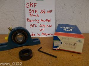 high temperature SKF SYH 3/4 WF YEL 204-012 2F Pillow Block Ball Bearing New