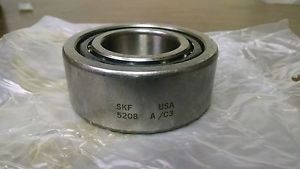 high temperature SKF 5208A C3 Double Row Ball Bearing 40mm x 80mm x 30.2mm 40x80x30.2
