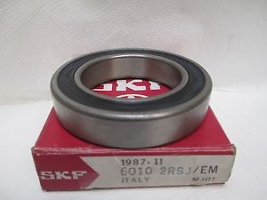 high temperature  SKF DEEP GROOVE DOUBLE SEALED BALL BEARING  6010-2RSJ/EM 6010-2RS1