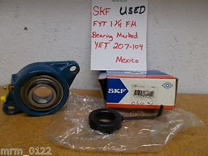 high temperature SKF FYT-1-1/4-FM YET 207-104 2 Bolt Flange Ball Bearing Used