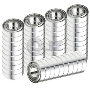 high temperature 50x SS6203-ZZ Ball Bearing 17mm x 40mm x 12mm Metal Sealed Stainless Steel