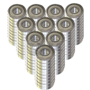high temperature 100x SS6203-ZZ Ball Bearing 17mm x 40mm x 12mm Metal Sealed Stainless Steel