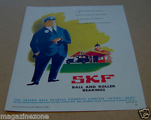 high temperature SKEFKO Ball Bearing Company SKF original magazine advert from / dated  Feb 1959