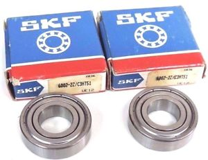 high temperature LOT OF 2  SKF 6002-2Z/C3HT51 BALL BEARING 15X32X9MM SHIELDED BOTH SIDES